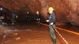 เร่งเติมออกซิเจนเข้าถ้ำหลวงให้ถึงเนินนมสาว ส่วนโถง2 ไปโถง3 น้ำลดสามารถเดินได้แล้ว!