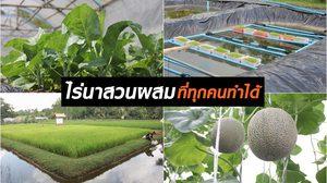 """""""ฟาร์มของแม่"""" ฟาร์มตัวอย่างขนาดเล็ก ไร่นาสวนผสมครบวงจรในเนื้อที่แค่ 5 ไร่"""