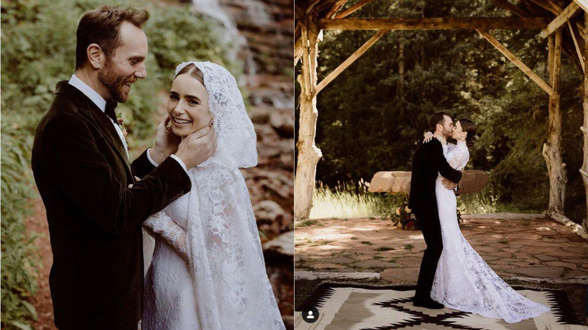 Lily Collins เข้าพิธีแต่งงานกับ Charlie McDowell ธีมสุดโรแมนติก เหมือนอยู่ในเทพนิยาย