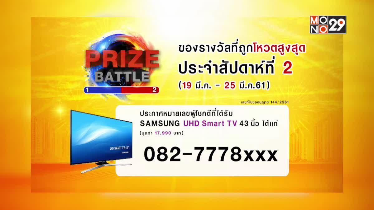ประกาศผลผู้โชคดีในกิจกรรม Prize Battle ของสัปดาห์ที่ 2