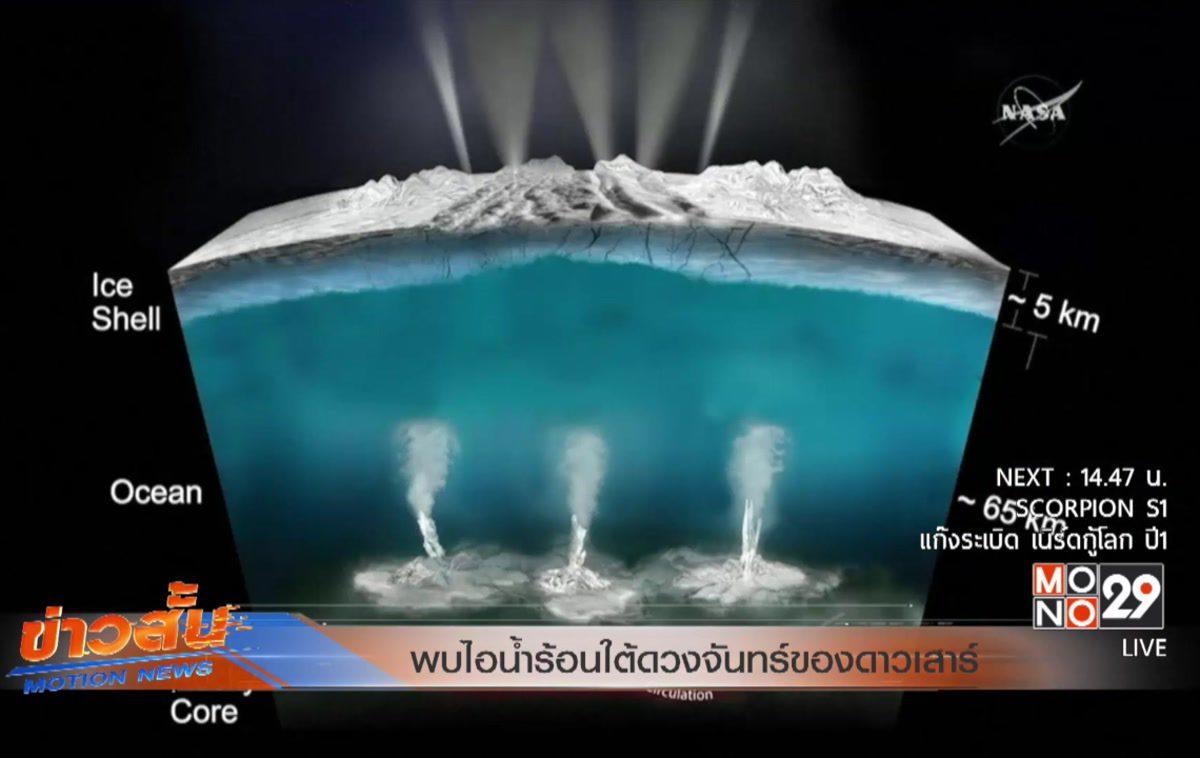 พบไอน้ำร้อนใต้ดวงจันทร์ของดาวเสาร์