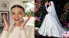 เผยโฉมแล้ว! ชุดแต่งงาน ของ มิแรนด้า เคอร์ สวยงามดุจเจ้าหญิง ที่อุบไว้เป็นเดือน