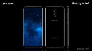 เผยภาพคอนเซ็ปต์ Samsung Galaxy Note 8 จะมาพร้อมกล้องหลังคู่!!