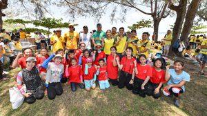"""นักกีฬาไทยหัวใจสิงห์ รวมใจสานฝัน """"นักกีฬาสานฝัน มอบของขวัญให้ท้องทะเล"""" ปี 3"""