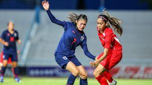 """""""วิลัยพร"""" แฮตทริก! ฟุตบอลหญิงทีมชาติไทย ดุทุบ สิงคโปร์ 8-0 ประเดิมศึกชิงแชมป์อาเซียน"""