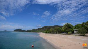 'เกาะแสมสาร'  ปิดหาด ฟื้นฟูธรรมชาติทางทะเลช่วงโควิด-19