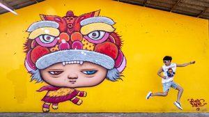 Street Art น้องมาร์ดี จุดแวะถ่ายรูปสุดฮิปแห่งเมืองพังงา