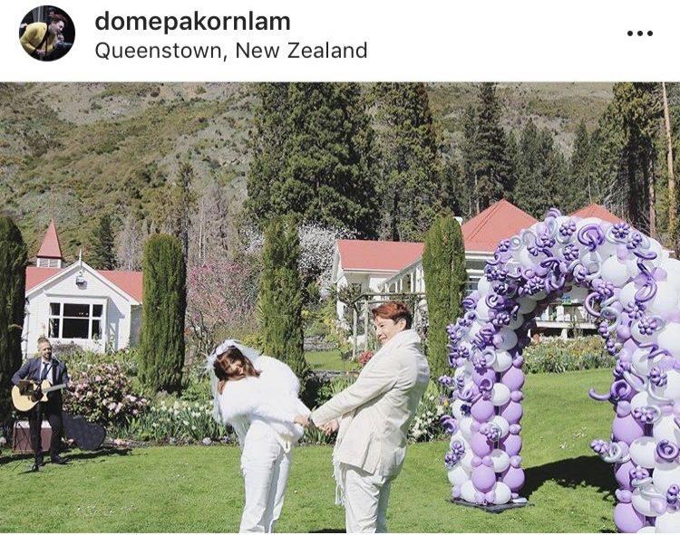 เมทัล-โดม ช็อตขอแต่งงานสุดหวาน