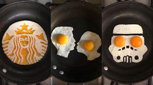 ศิลปะจากไข่ ใครจะไปคิดว่าแค่ไข่จะทำงานศิลปะออกมาได้ไม่เหมือนใคร