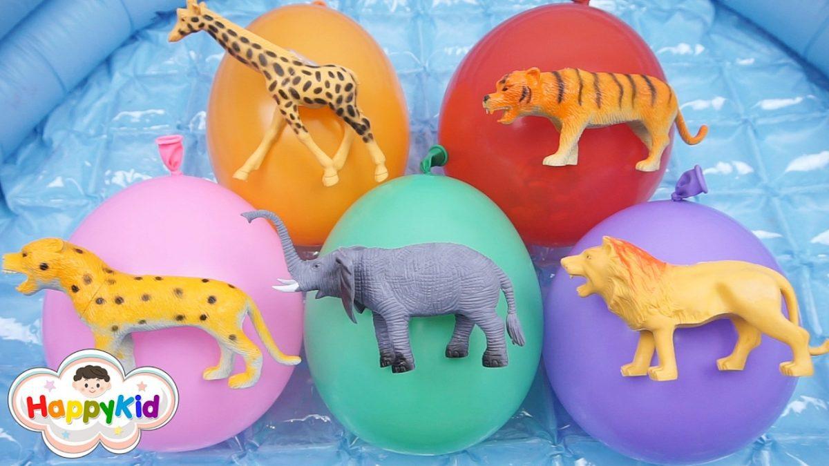 เพลงนิ้วโป้งอยู่ไหน #15 | เจาะลูกโป่งสัตว์ | เรียนรู้สี | Learn Color With Animal Balloons