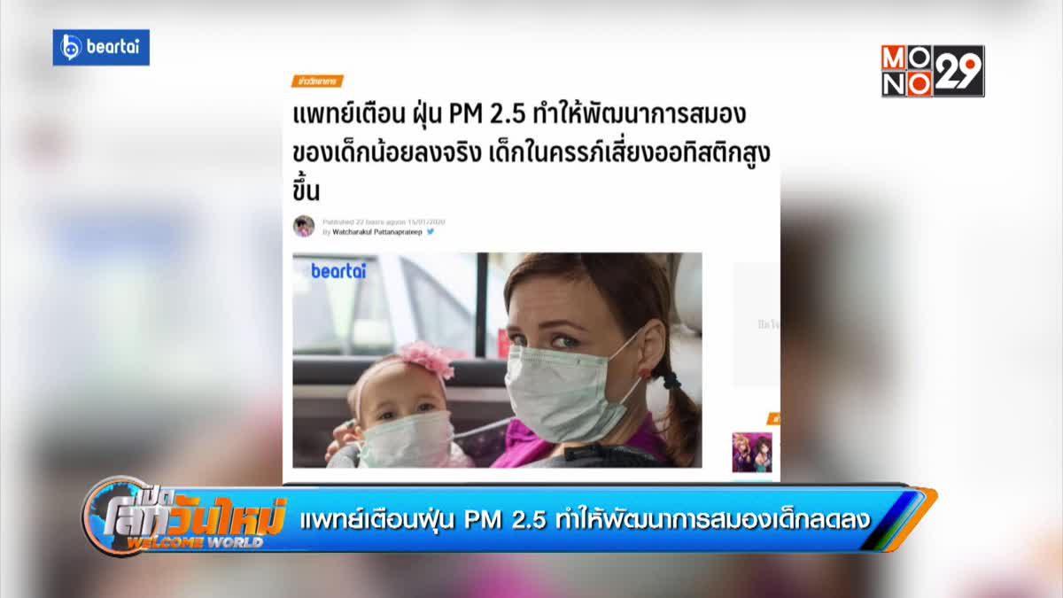 แพทย์เตือนฝุ่น PM 2.5 ทำให้พัฒนาการสมองเด็กลดลง