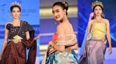 งดงามมาก! แฟชั่นโชว์ ผ้าไหมไทย นำทีมเดินแบบโดย แพนเค้ก และแพม มิสแกรนด์ไทยแลนด์ 2017