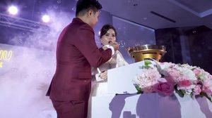 มิติใหม่งานแต่ง! คู่รักใช้หมูกระทะ แทนการตัดเค้ก