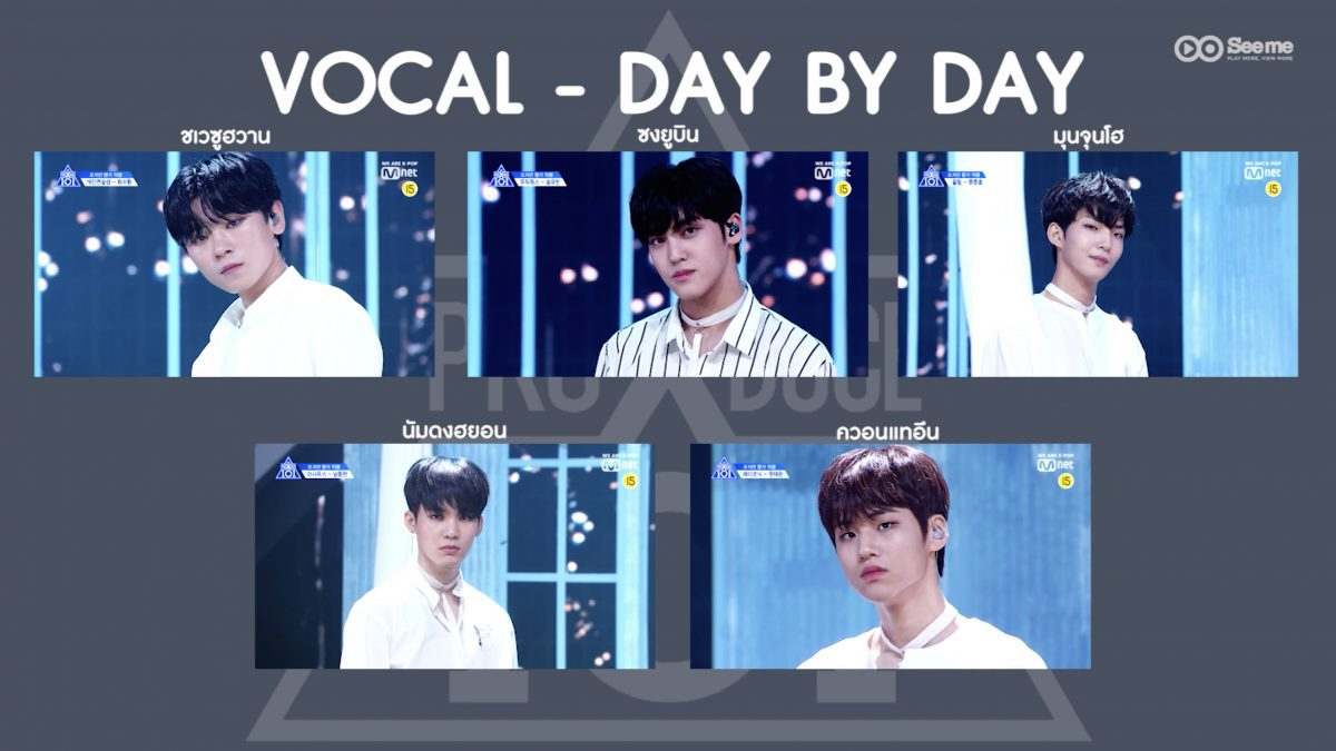 PRODUCE X 101ㅣวีดีโอ 1:1 - WONNA ONE ♬DAY BY DAY (Multicam ver.) การแข่งขันรอบ Position