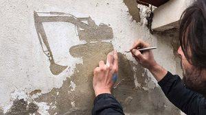 ผลงานสร้างสรรค์จาก pejac ศิลปินชาวสเปนในค่ายลี้ภัยปาเลสไตน์