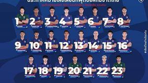 """ครั้งแรก! """"เจ""""ใส่เบอร์10ทีมชาติไทยลุย2นัดในคัดบอลโลก2022"""