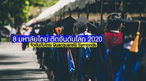 8 มหาลัยไทย ติดอันดับโลก 2020