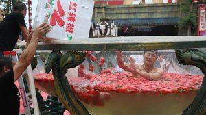 เผ็ดร้อนถึงใจ!! แข่งขันกิน พริก แบบสดๆ เพื่อต้อนรับฤดูร้อนในประเทศจีน