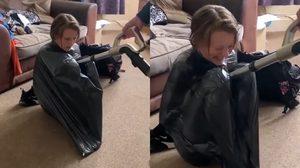 Vacuum Challenge ชาเลนจ์ใหม่ ลงไปอยู่ในถุงขยะแล้วดูดอากาศออกให้หมด!!