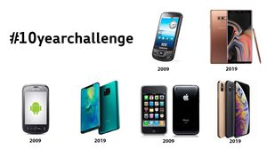 ถ้าสมาร์ทโฟนแบรนด์ต่างๆ เล่น #10yearchallenge จะเป็นอย่างไร?