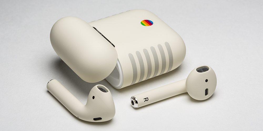 กล่อง และหูฟัง ของ AirPods Retro