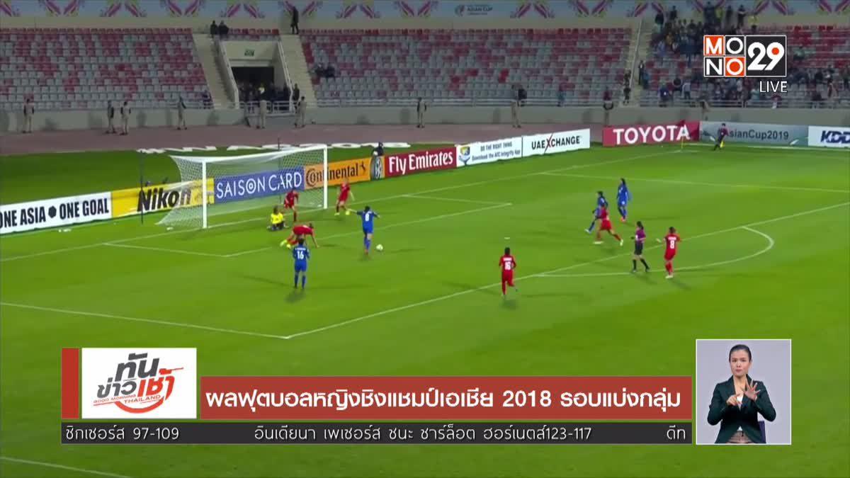 ผลฟุตบอลหญิงชิงแชมป์เอเชีย 2018 รอบแบ่งกลุ่ม