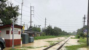ปิดเส้นทางรถไฟสงขลา หาดใหญ่-คลองแงะ หลังน้ำท่วมราง