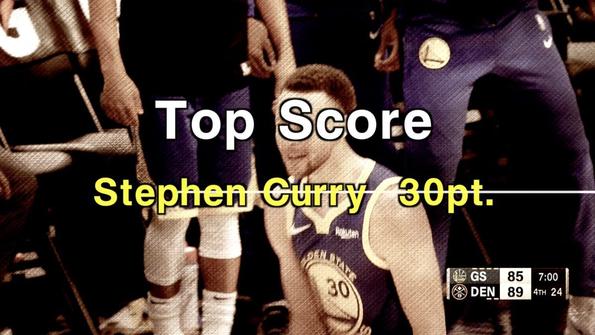Top Score  Stephen Curry  30pt