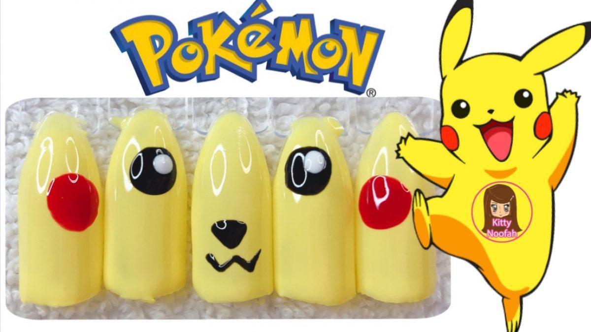 ไอเดีย ทำเล็บลาย โปเกมอน Pokemon ง่ายๆด้วยตัวเอง