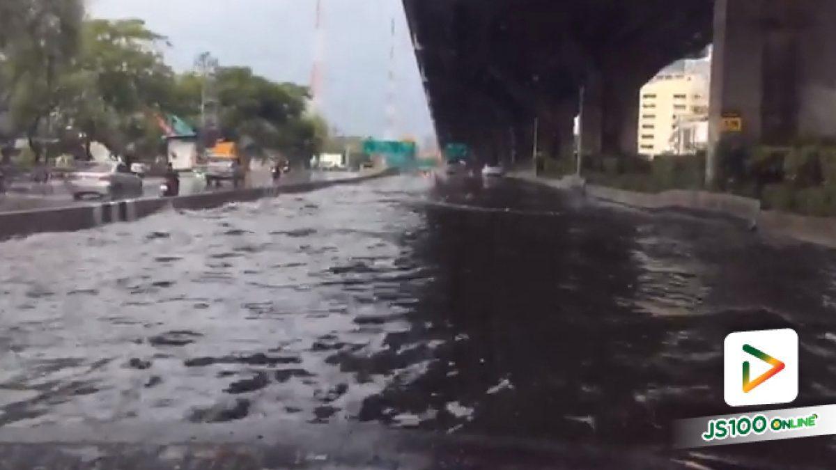 น้ำท่วมถนนวิภาวดีช่วง 5แยกลาดพร้าว ถึง แยกดินแดง (07-06-62)