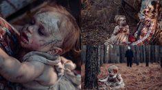 คุณแม่สายช่างภาพ จับลูก และสามี ถ่ายภาพคอนเซ็ปต์สยองขวัญ ต้อนรับวัน Halloween