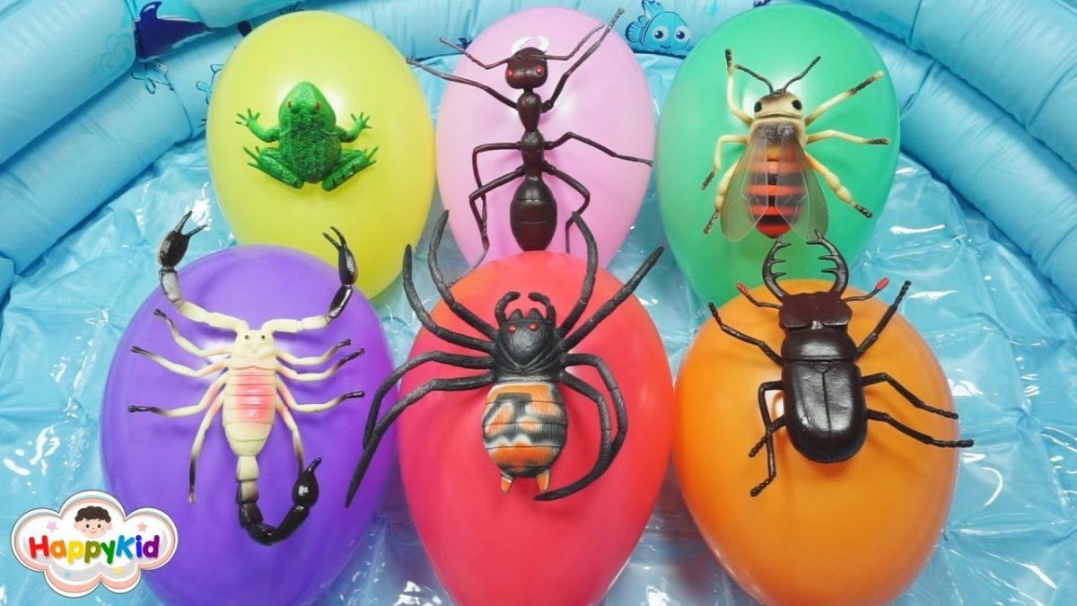 เพลงนิ้วโป้งอยู่ไหน #6 | เจาะลูกโป่งสัตว์น่ากลัว | Learn Animal Names With Balloons