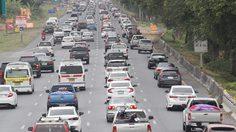 ถนนสายเอเชีย ช่วงผ่านอยุธยามุ่งหน้าภาคเหนือมีรถหนาแน่น