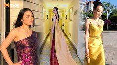 อวดความเป็นไทยให้โลกรู้ ตั๊ก บงกช สวมชุดผ้าไหม จากฝีมือตัดเย็บช่างไทย
