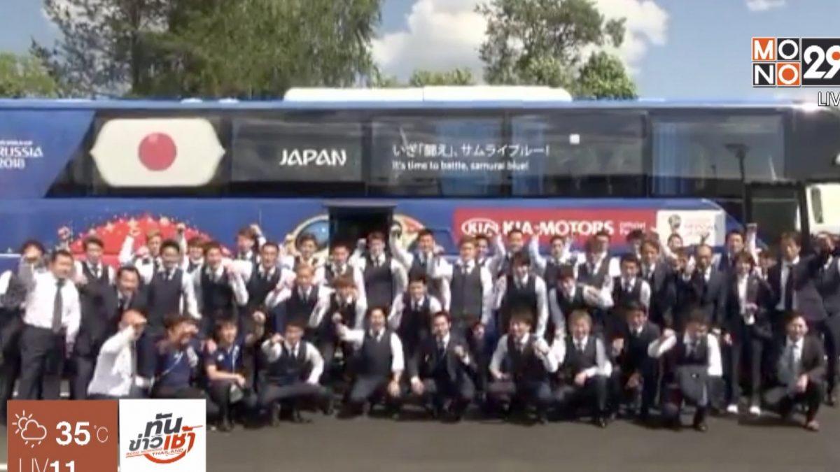 แข้งญี่ปุ่นให้กำลังใจทีมหมูป่าอคาเดมี