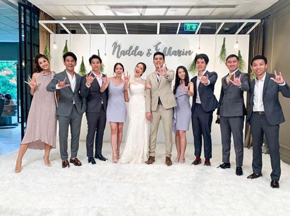 กัน พา มารี เปิดตัวร่วมงานแต่งเพื่อนสนิท