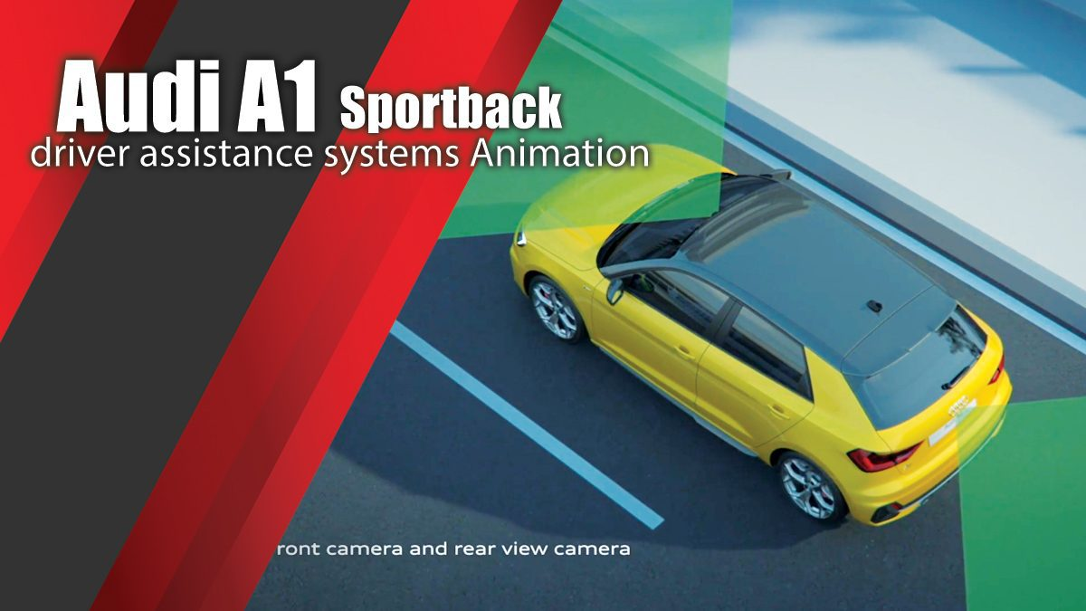 Audi A1 Sportback driver assistance systems Animation