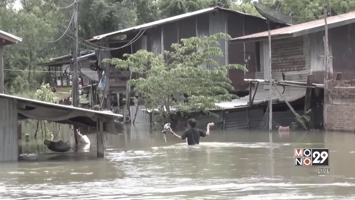 ชุมชนริมแม่น้ำ จ.ชัยนาท น้ำทะลักท่วม