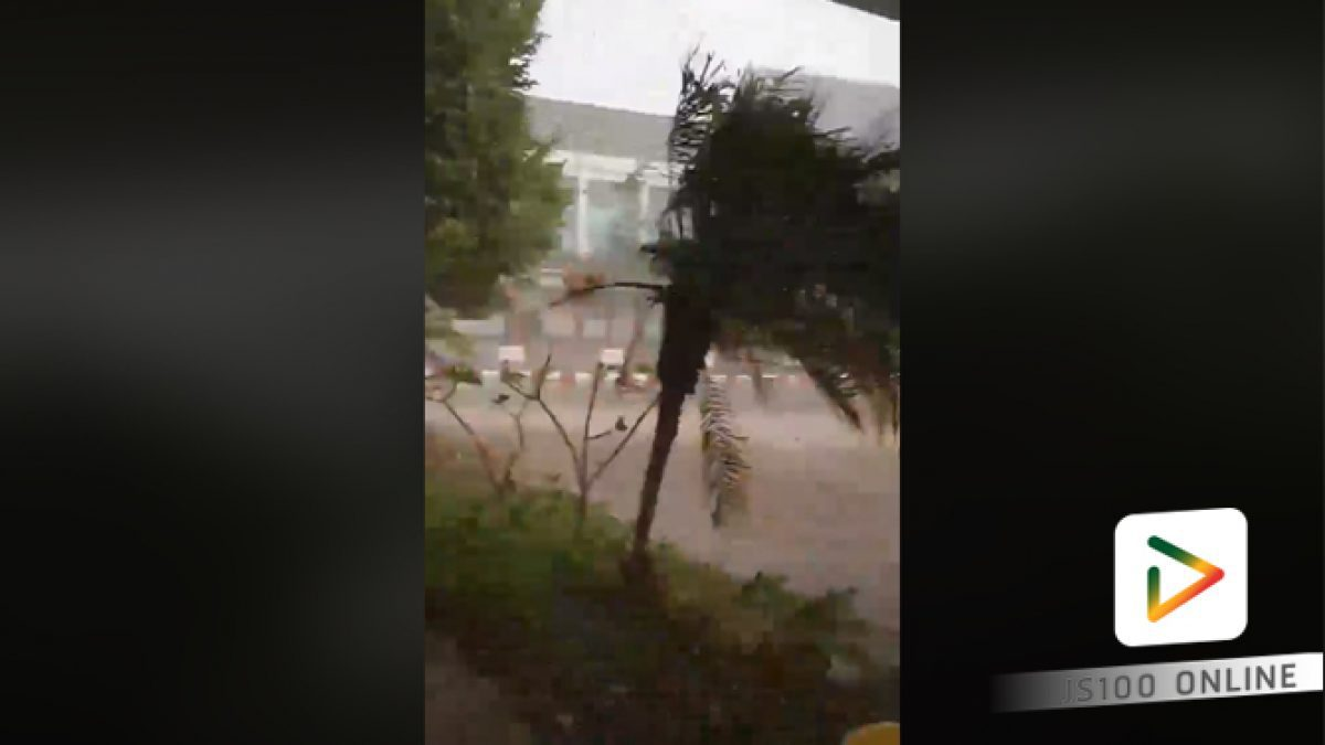 คลิปนาทีพายุลูกเห็บถล่ม อ.เดชอุดม จ.อุบลฯ เมื่อช่วงเย็นวันนี้ (19-03-61)