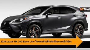 2020 Lexus NX 300 Black Line โดดเด่นด้วยชิ้นส่วนสีทองแดงอันวิจิตร