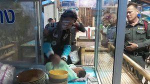 สะเทือนใจ! แม่ทิ้งลูกแรกเกิดในตู้กับข้าว ร้านข้าวแกงกระบี่