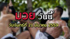โปรแกรมมวยไทยวันนี้ วันจันทร์ที่ 21 มีนาคม 2559