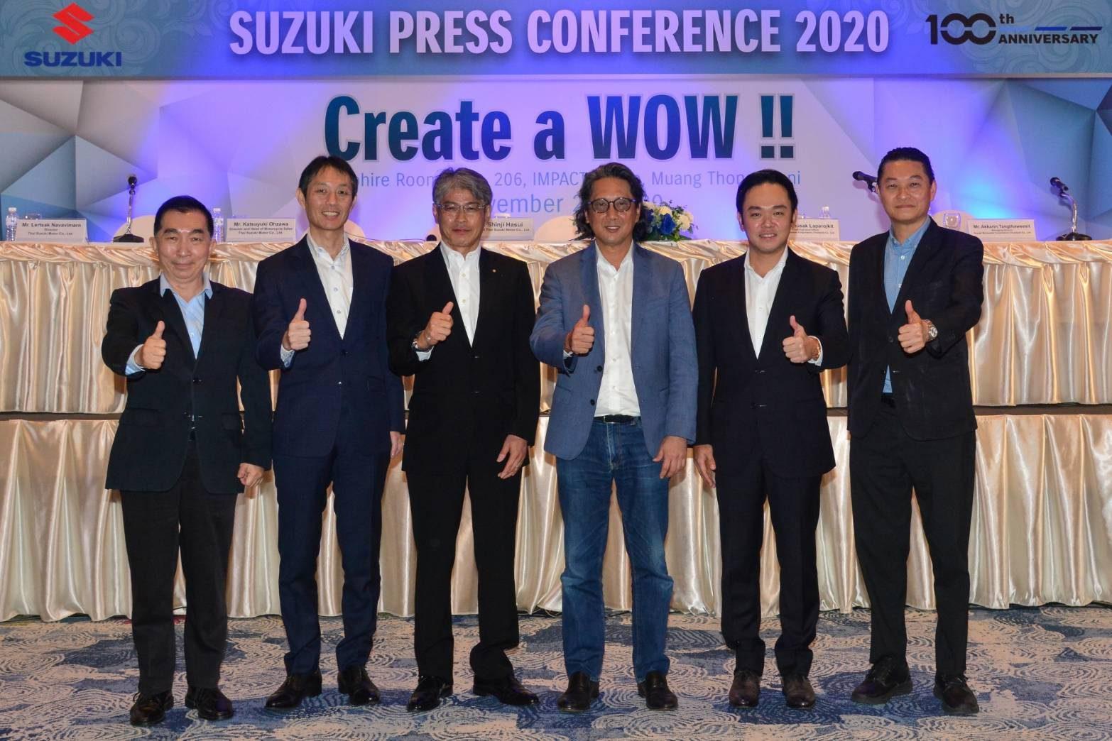 """""""ซูซูกิ"""" ตอกย้ำภาพลักษณ์แบรนด์ที่แข็งแกร่ง ผนึกกำลัง ยกระดับจัดทัพใหม่ ชูแผนกลยุทธ์การบริการหลังการขาย การขาย และการตลาดแนวใหม่ที่แตกต่าง ลุยตลาดรถจักรยานยนต์ในประเทศไทย"""