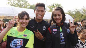 """เยาวชนชื่นมื่น! """"สิโรจน์"""" นำทีมนักกีฬาทีมชาติไทยร่วมงานวันเด็ก กกท."""