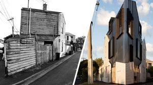 รีโนเวท บ้านเก่าสมัยวิคตอเรียน ให้กลายเป็น บ้านสามเหลี่ยม สุดโมเดิร์น