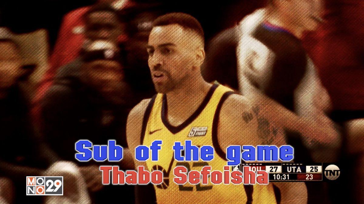 Sub of the game Thabo Sefoisha