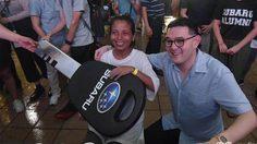 สาวชาวสิงคโปร์คว้าแชมป์ MediaCorp Subaru Car Challenge 2018 หลังยืนแตะรถเกือบ 4วัน
