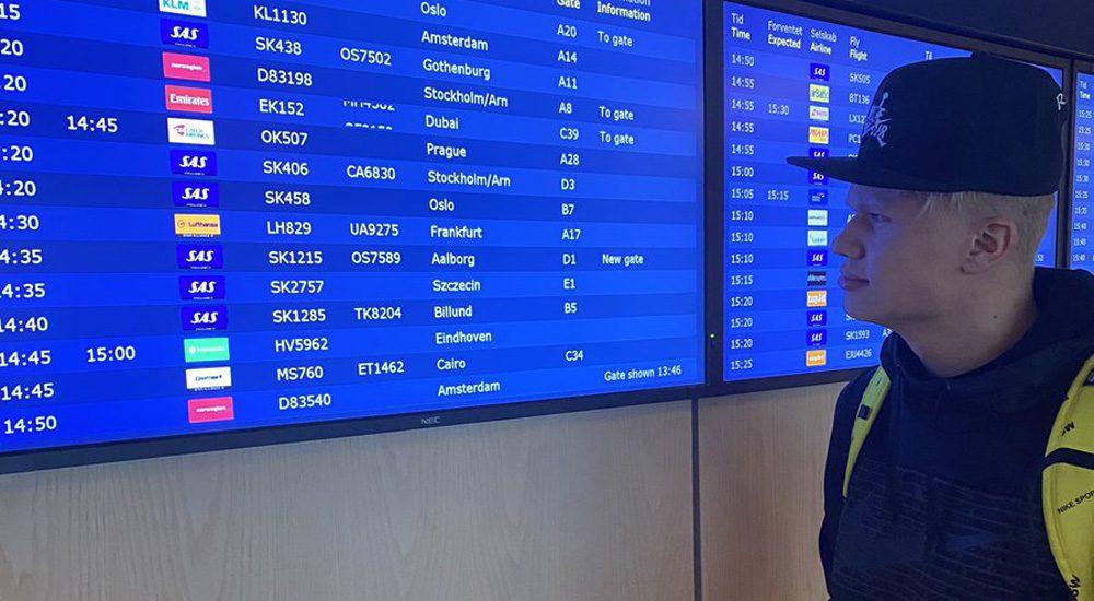 พ่อ ฮาแลนด์ สุดแสบ ทวีตปั่นหัวนักข่าว หลังมีรายงานบินตรงมาแมนเชสเตอร์