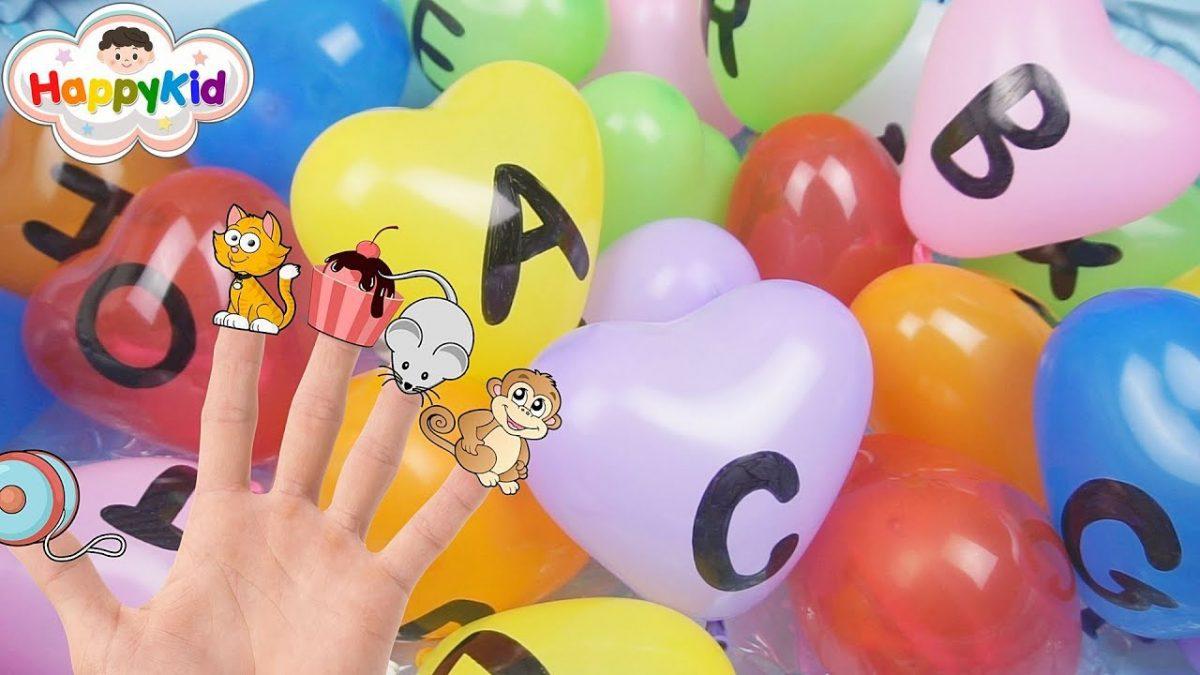 เพลงนิ้วโป้งอยู่ไหน #20 | เจาะลูกโป่ง ABC | เรียนรู้ A-Z | ภาษาอังกฤษสำหรับเด็ก