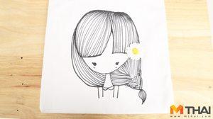 DIY BAG ถุงผ้าลายสาวน้อยกับดอกไม้ น่ารักน่าใช้มาก